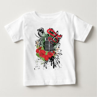 Vintager MikrofonGrunge 2 Baby T-shirt