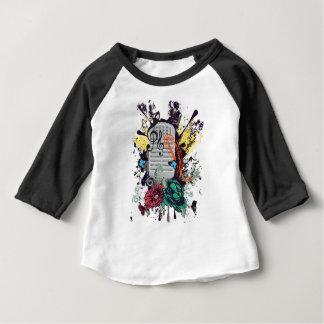 Vintager MikrofonGrunge 3 Baby T-shirt