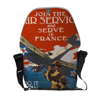 Vintager MilitäreinziehenWW1 fluglinienverkehr Kurier Taschen