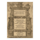 Vintager mittelalterlicher Holzschnitt-gotische Karte