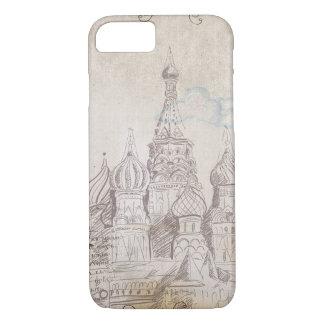Vintager Moskau-Porto-Entwurf iPhone 8/7 Hülle