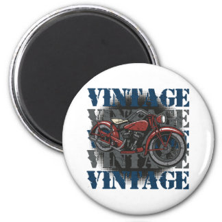 Vintager Motorrad-Reiter Runder Magnet 5,1 Cm