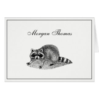 Vintager MSked Raccoon Karte