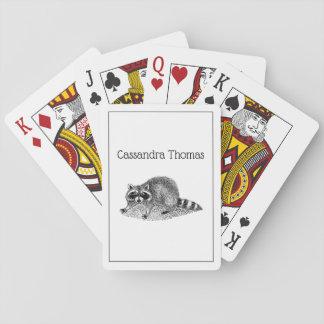 Vintager MSked Raccoon Spielkarten