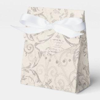 Vintager Muster-Glamourchic-elegantes Gastgeschenk Geschenkschachtel