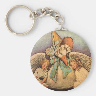 Vintager Mutter-Gans-KindJessie Willcox Smith Schlüsselanhänger