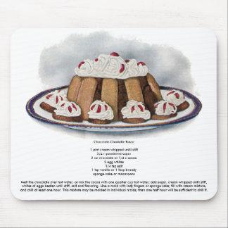 Vintager Nachtisch Schokoladen-Charlottes Russe Mousepad