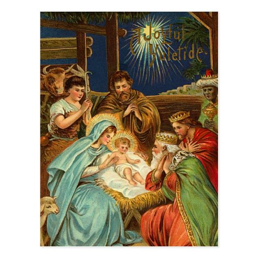 Vintager Nativity-religiöse Postkarten