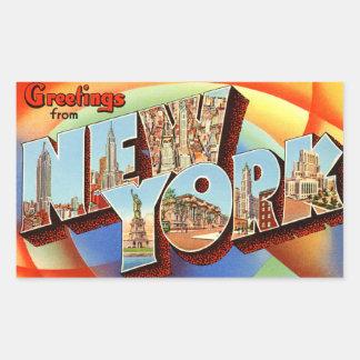 Vintager New- Yorkaufkleber