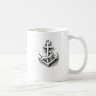 Vintager nobler nautischanker tasse