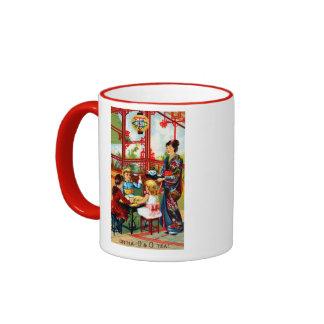 Vintager O&O Tee Ringer Tasse