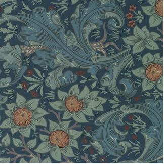 Vintager Obstgarten-Blumenentwurf Williams Morris Freistehende Fotoskulptur