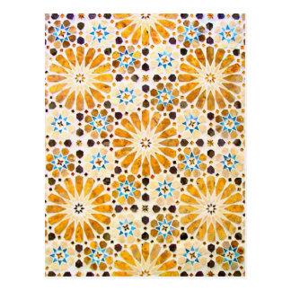Vintager orientalischer islamischer Muster-Entwurf Postkarte