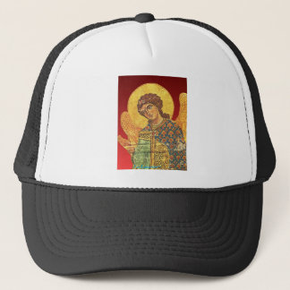 Vintager orthodoxer Ikon, Engel Gabriel Truckerkappe