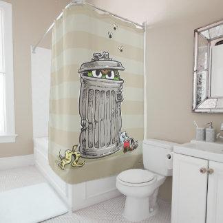 Vintager Oscar in der Abfall-Dose Duschvorhang
