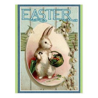 Vintager Osterhase Postkarte