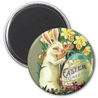 Vintager Osterhasen-Magnet Runder Magnet 5,1 Cm