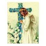 Vintager Ostern-Engels-christliche Ostern-Postkart