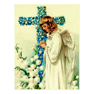 Vintager Ostern-Engels-christliche Postkarte