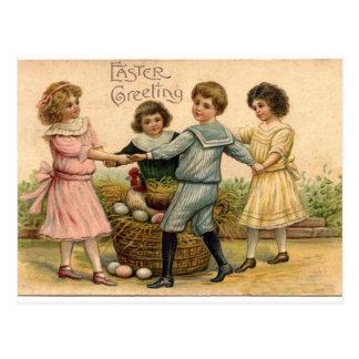Vintager Ostern-Gruß Postkarten