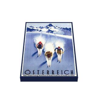 Vintager Österreich Ski Leinwanddruck