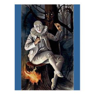 Vintager Pantomime beängstigender darl Baum des Postkarte