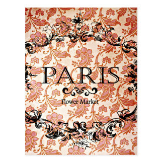 Vintager Paris-Damast Postkarte
