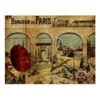 Vintager Paris-Druck Postkarte