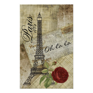 Vintager Paris-Entwurf Poster