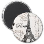 Vintager Paris… Magnet Runder Magnet 5,7 Cm