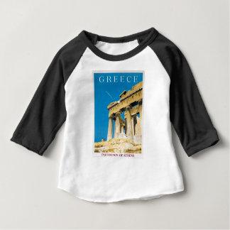 Vintager Parthenon-Tempel Reise-Athens Baby T-shirt