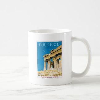 Vintager Parthenon-Tempel Reise-Athens Kaffeetasse