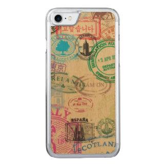 Vintager Pass-Briefmarken-Ahorn hölzerner iPhone Carved iPhone 8/7 Hülle