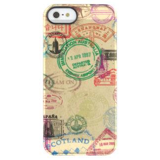 Vintager Pass-Briefmarken iPhone Permafrost® iPhone SE/5/5s Hülle