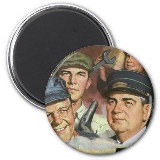 Vintager patriotischer Patriotismus, Runder Magnet 5,1 Cm