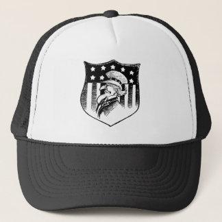 Vintager patriotischer Uncle Sam Und amerikanische Truckerkappe