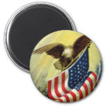 Vintager Patriotismus, patriotischer Adler-amerika Kühlschrankmagnete