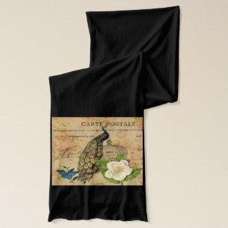 Vintager Pfau französischen botanischen Kamelie Schal