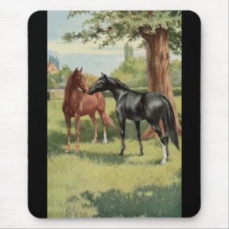 Vintager Pferdestutestallions-Reiter Mousepads