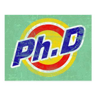 Vintager Ph.D oder PhD oder Doktor der Philosophie Postkarte
