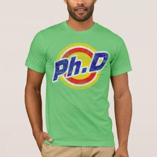 Vintager Ph.D oder PhD oder Doktor der Philosophie T-Shirt