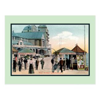 Vintager Pier versieht Llandudno Wales Badeort mit Postkarte