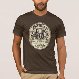 Vintager Pilsner-Bier-Anzeigen-Aufkleber T-Shirt