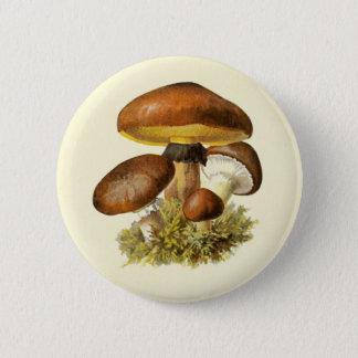 Vintager Pilz Browns Runder Button 5,7 Cm