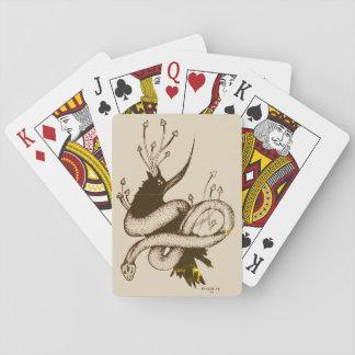 Vintager Pilz-Spielkarten der Krähen-n Spielkarten