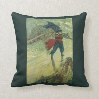 Vintager Pirat, der Fliegende Holländer durch Kissen