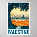 Vintager Plakat-Druck Besuchs-Palästinas