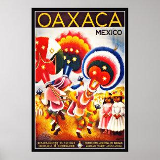 Vintager Plakat-Druck OAXACA Mexiko groß Poster