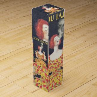 Vintager PlakatCachou Lajaunie Wein-Geschenkverpackung
