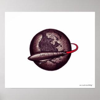 Vintager Plakatentwurf der grafischen Kunst des Ze Poster